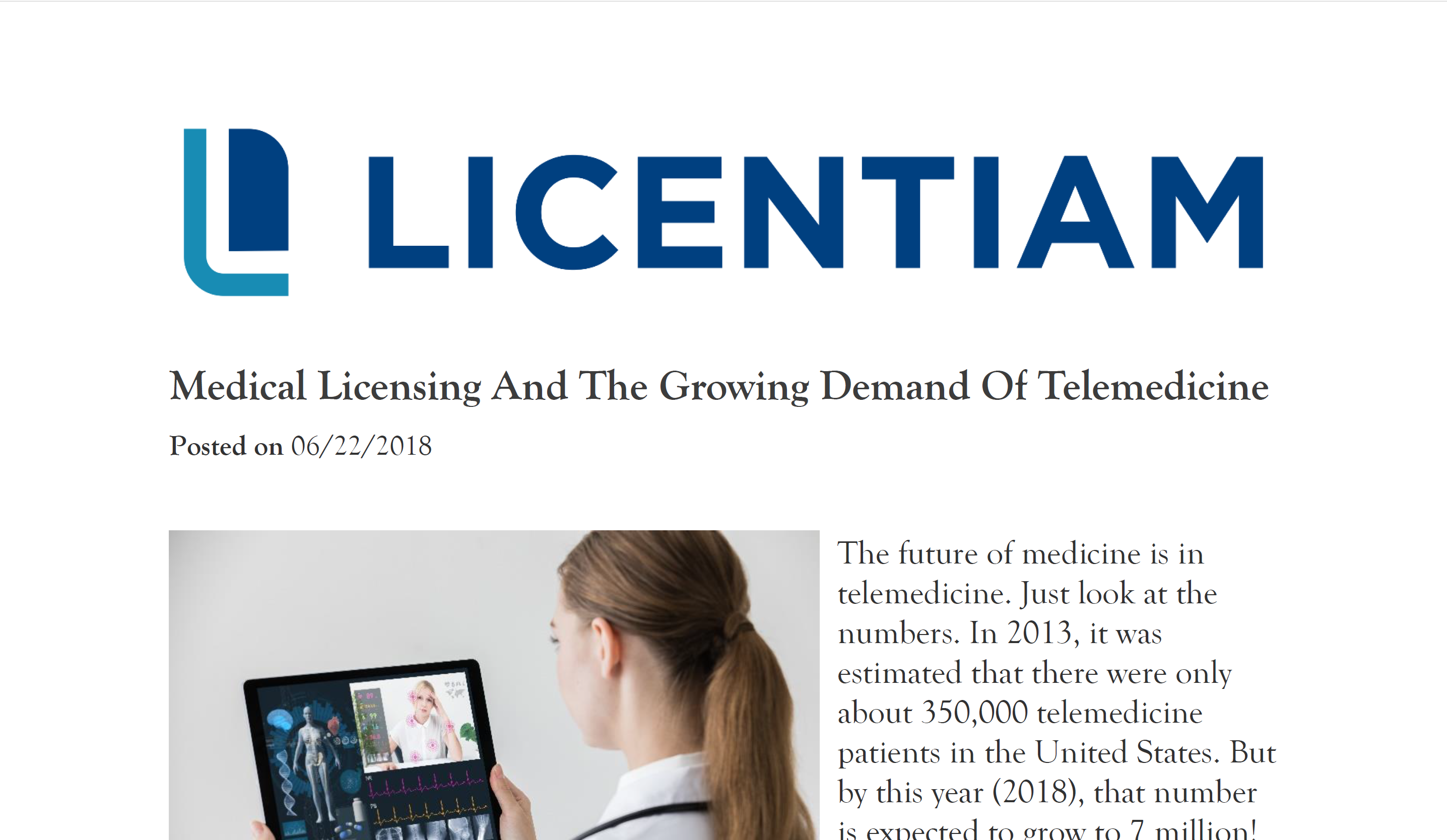 Licentiam - Growing demand photo